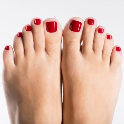 Gel UV Shellac pieds | Clinique Esthétique Laroche